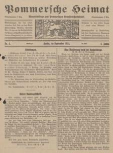 Pommersche Heimat. Monatsbeilage zum Pommerschen Genossenschaftsblatt Nr. 8/1915