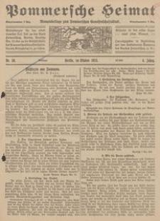 Pommersche Heimat. Monatsbeilage zum Pommerschen Genossenschaftsblatt Nr. 10/1915