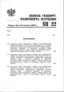 Dziennik Urzędowy Województwa Słupskiego. Nr 22/1997