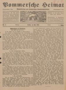Pommersche Heimat. Monatsbeilage zum Pommerschen Genossenschaftsblatt Nr. 5/1916