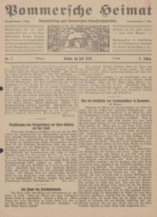 Pommersche Heimat. Monatsbeilage zum Pommerschen Genossenschaftsblatt Nr. 7/1916
