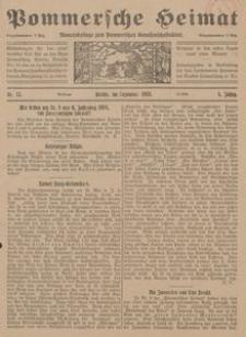 Pommersche Heimat. Monatsbeilage zum Pommerschen Genossenschaftsblatt Nr. 12/1916