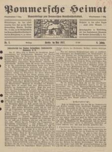 Pommersche Heimat. Monatsbeilage zum Pommerschen Genossenschaftsblatt Nr. 5/1917