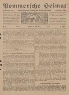 Pommersche Heimat. Monatsbeilage zum Pommerschen Genossenschaftsblatt Nr. 6/1917