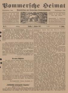 Pommersche Heimat. Monatsbeilage zum Pommerschen Genossenschaftsblatt Nr. 10/1917