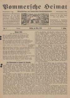 Pommersche Heimat. Monatsbeilage zum Pommerschen Genossenschaftsblatt Nr. 2/1918
