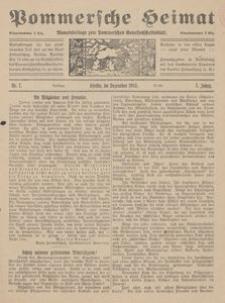 Pommersche Heimat. Monatsbeilage zum Pommerschen Genossenschaftsblatt Nr. 7/1918