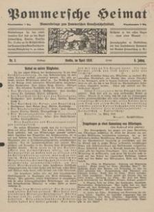 Pommersche Heimat. Monatsbeilage zum Pommerschen Genossenschaftsblatt Nr. 3/1919