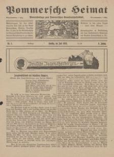 Pommersche Heimat. Monatsbeilage zum Pommerschen Genossenschaftsblatt Nr. 5/1919