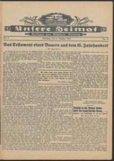 Unsere Heimat. Beilage zur Kösliner Zeitung Nr. 6/1934