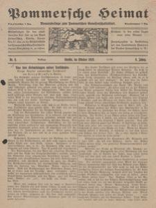 Pommersche Heimat. Monatsbeilage zum Pommerschen Genossenschaftsblatt Nr. 8/1919