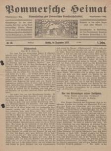 Pommersche Heimat. Monatsbeilage zum Pommerschen Genossenschaftsblatt Nr. 10/1919