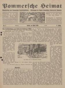 Pommersche Heimat. Monatsbeilage zum Pommerschen Genossenschaftsblatt. - Mitteilungen des Bundes Heimatschutz, Landesverein Pommern Nr. 3/1920