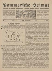 Pommersche Heimat. Monatsbeilage zum Pommerschen Genossenschaftsblatt. - Mitteilungen des Bundes Heimatschutz, Landesverein Pommern Nr. 4/1920