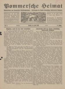 Pommersche Heimat. Monatsbeilage zum Pommerschen Genossenschaftsblatt. - Mitteilungen des Bundes Heimatschutz, Landesverein Pommern Nr. 6/1920