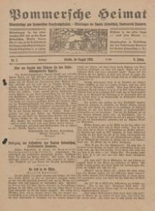 Pommersche Heimat. Monatsbeilage zum Pommerschen Genossenschaftsblatt. - Mitteilungen des Bundes Heimatschutz, Landesverein Pommern Nr. 7/1920