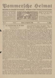 Pommersche Heimat. Monatsbeilage zum Pommerschen Genossenschaftsblatt. - Mitteilungen des Bundes Heimatschutz, Landesverein Pommern Nr. 8/1920