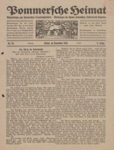 Pommersche Heimat. Monatsbeilage zum Pommerschen Genossenschaftsblatt. - Mitteilungen des Bundes Heimatschutz, Landesverein Pommern Nr. 10/1920
