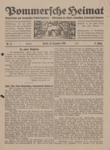 Pommersche Heimat. Monatsbeilage zum Pommerschen Genossenschaftsblatt. - Mitteilungen des Bundes Heimatschutz, Landesverein Pommern Nr. 11/1920