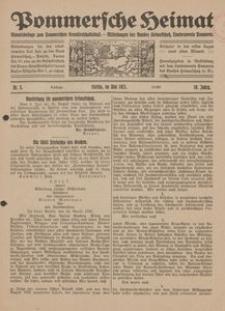 Pommersche Heimat. Monatsbeilage zum Pommerschen Genossenschaftsblatt. - Mitteilungen des Bundes Heimatschutz, Landesverein Pommern Nr. 5/1921