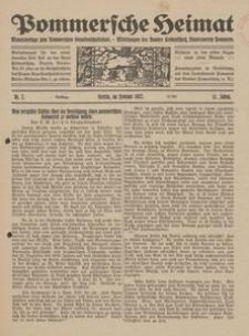 Pommersche Heimat. Monatsbeilage zum Pommerschen Genossenschaftsblatt. - Mitteilungen des Bundes Heimatschutz, Landesverein Pommern Nr. 2/1922