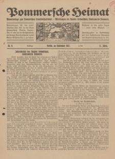 Pommersche Heimat. Monatsbeilage zum Pommerschen Genossenschaftsblatt. - Mitteilungen des Bundes Heimatschutz, Landesverein Pommern Nr. 9/1922
