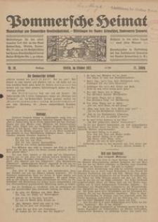 Pommersche Heimat. Monatsbeilage zum Pommerschen Genossenschaftsblatt. - Mitteilungen des Bundes Heimatschutz, Landesverein Pommern Nr. 10/1922