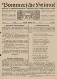 Pommersche Heimat. Monatsbeilage zum Pommerschen Genossenschaftsblatt. - Mitteilungen des Bundes Heimatschutz, Landesverein Pommern Nr. 11/1922