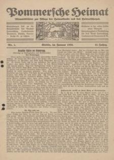 Pommersche Heimat. Monatsblätter zur Pflege der Heimatkunde und des Heimatschutze Nr. 1/1923