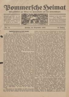 Pommersche Heimat. Monatsblätter zur Pflege der Heimatkunde und des Heimatschutzes Nr. 12/1923