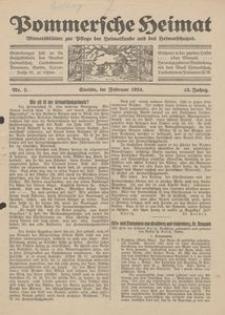 Pommersche Heimat. Monatsblätter zur Pflege der Heimatkunde und des Heimatschutzes Nr. 2/1924