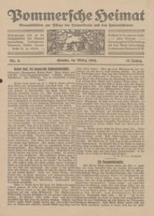 Pommersche Heimat. Monatsblätter zur Pflege der Heimatkunde und des Heimatschutzes Nr. 3/1924