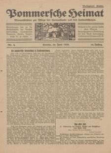 Pommersche Heimat. Monatsblätter zur Pflege der Heimatkunde und des Heimatschutzes Nr. 6/1925