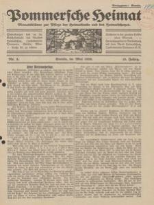 Pommersche Heimat. Monatsblätter zur Pflege der Heimatkunde und des Heimatschutzes Nr. 5/1926