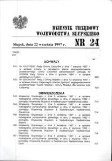 Dziennik Urzędowy Województwa Słupskiego. Nr 24/1997