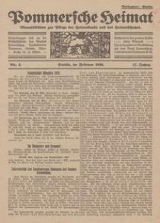 Pommersche Heimat. Monatsblätter zur Pflege der Heimatkunde und des Heimatschutzes Nr. 2/1928