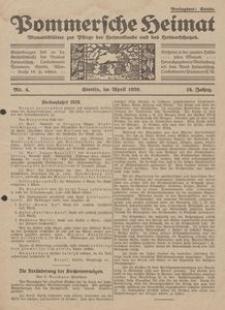 Pommersche Heimat. Monatsblätter zur Pflege der Heimatkunde und des Heimatschutzes Nr. 4/1929