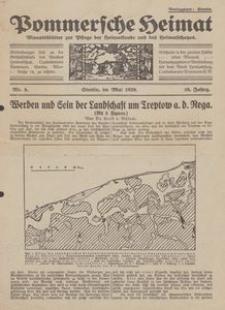 Pommersche Heimat. Monatsblätter zur Pflege der Heimatkunde und des Heimatschutzes Nr. 5/1929