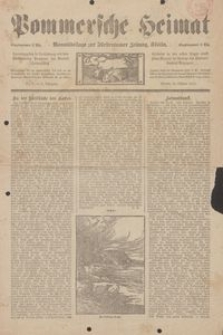 Pommersche Heimat. Monatsbeilage zur Fürstentumer Zeitung, Köslin Nr. 7/1912