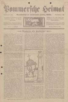 Pommersche Heimat. Monatsbeilage zur Fürstentumer Zeitung, Köslin Nr. 8/1912