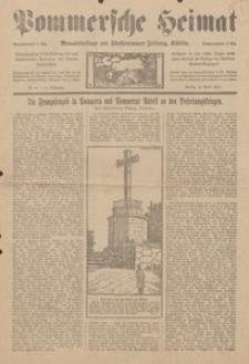 Pommersche Heimat. Monatsbeilage zur Fürstentumer Zeitung, Köslin Nr. 4/1913