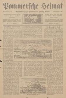 Pommersche Heimat. Monatsbeilage zur Fürstentumer Zeitung, Köslin Nr. 7/1913