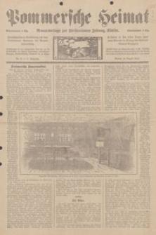 Pommersche Heimat. Monatsbeilage zur Fürstentumer Zeitung, Köslin Nr. 8/1913