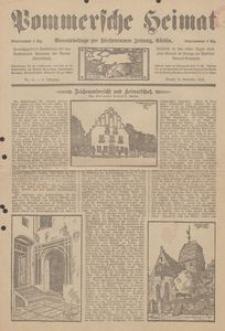 Pommersche Heimat. Monatsbeilage zur Fürstentumer Zeitung, Köslin Nr. 11/1913