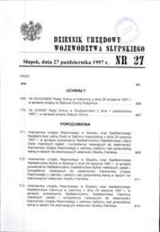 Dziennik Urzędowy Województwa Słupskiego. Nr 27/1997