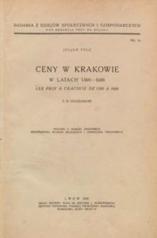 Ceny w Krakowie w latach 1369-1600