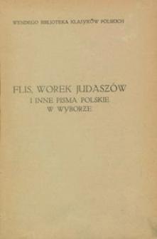 Flis, Worek Judaszów i inne pisma polskie w wyborze