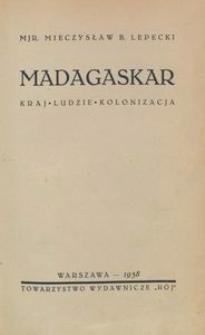 Madagaskar. Kraj, ludzie, kolonizacja