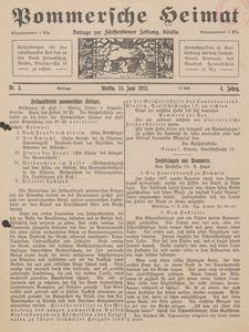 Pommersche Heimat. Beilage zur Fürstentumer Zeitung, Köslin Nr. 3/1915