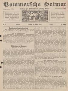 Pommersche Heimat. Beilage zur Fürstentumer Zeitung, Köslin Nr. 3/1916